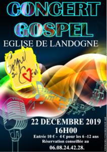 "Concert du groupe ""Gospel au coeur"" @ Landogne"